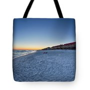 Sunset At The Beach In Florida Tote Bag