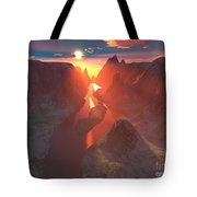 Sunset At The Canyon Tote Bag