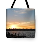 Sunset At The Causeway Tote Bag