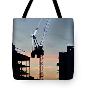 Sunset At The Construction Site 3  Tote Bag