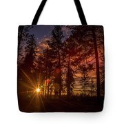 Sunset At The End Of The Hike Tote Bag