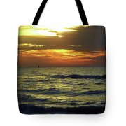 Sunset At The Gulf Tote Bag