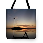 Sunset At The Gulf Of Bothnia  Tote Bag