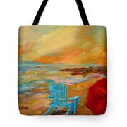 Sunset At The Jetty Tote Bag