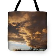 Sunset At The New Mexico State Capital Tote Bag
