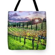 Sunset At The Palmers Tote Bag