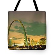 Sunset At The St. Louis Arch  Tote Bag