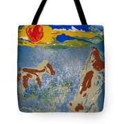 Sunset At The Watering Hole Tote Bag