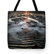 Sunset At The West Shore Llandudno Tote Bag