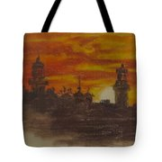 Sunset At Twin Lights Tote Bag