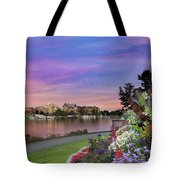 Sunset At Victoria Bc  Inner Harbour Tote Bag