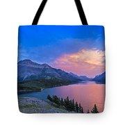 Sunset At Waterton Lakes National Park Tote Bag