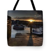 Sunset At West Bay Harbour Tote Bag