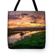 Sunset At Whitewater Draw Tote Bag