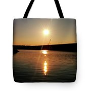 Sunset At Wolf Creek Dam Tote Bag