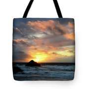 Sunset Bandon By The Sea Tote Bag