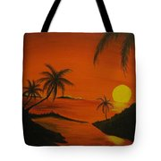 Sunset Beach Tote Bag