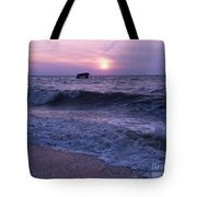 Sunset Beach Nj And Ship Tote Bag