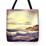 Sunset Beach Pastel Splash - Elegance With Oil Tote Bag