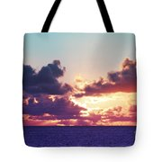 Sunset Behind Clouds Tote Bag