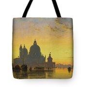 Sunset Behind The Church Of Santa Maria Della Salute Tote Bag
