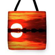 Sunset Behind The Trees At Kempenfelt Bay Two  Tote Bag
