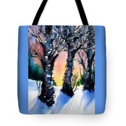 Sunset Birches On The Rise Tote Bag