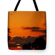 Sunset Birds Tote Bag