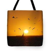 Sunset Birds Key West Tote Bag by Susanne Van Hulst