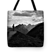 Sunset Black And White Tote Bag