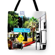 Sunset Blvd Tote Bag