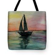 Sunset Boat 1 Tote Bag