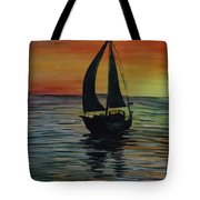 Sunset Boat 3 Tote Bag