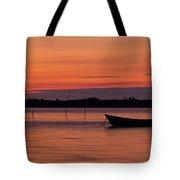 Sunset Boat Tote Bag