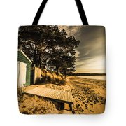 Sunset Boat Shed Tote Bag