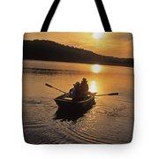Sunset Boating  Tote Bag
