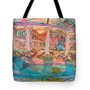 Sunset Bridge Tote Bag
