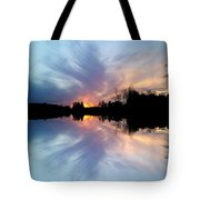 Sunset Brushstrokes Tote Bag