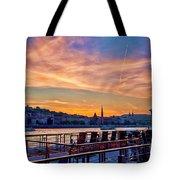Sunset Budapest Tote Bag
