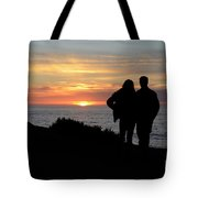 Sunset California Coast Tote Bag