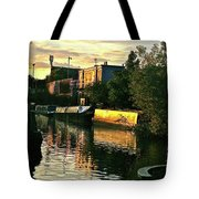 Sunset Canal Reflections Tote Bag