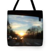 Sunset Cars Tote Bag