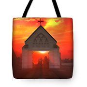 Sunset Church Tote Bag