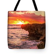 Sunset Cliff Tote Bag