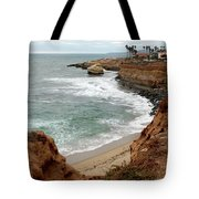 Sunset Cliffs With Bird Rock Tote Bag