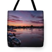Sunset Clouds In The Sea Tote Bag