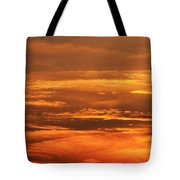 Sunset Clouds On Fire Tote Bag