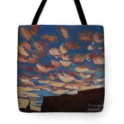 Sunset Clouds Over Santa Fe Tote Bag by Erin Fickert-Rowland