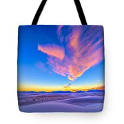 Sunset Colors Over White Sands National Tote Bag
