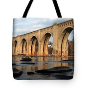 Sunset Crossing Tote Bag